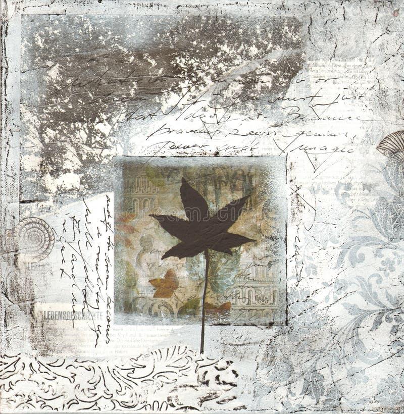 Illustrazione grigia del collage royalty illustrazione gratis