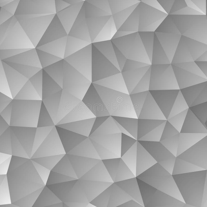 Illustrazione grigia dell'estratto di vettore, fondo dei triangoli ENV 10 illustrazione vettoriale