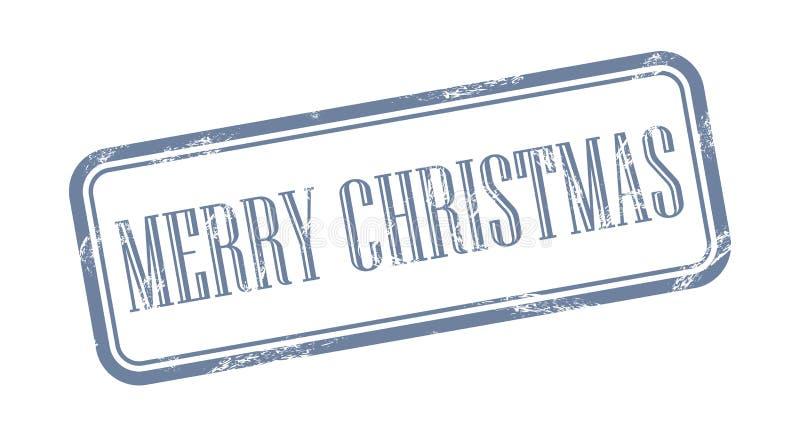 Illustrazione grungy di vettore del bollo di Buon Natale royalty illustrazione gratis