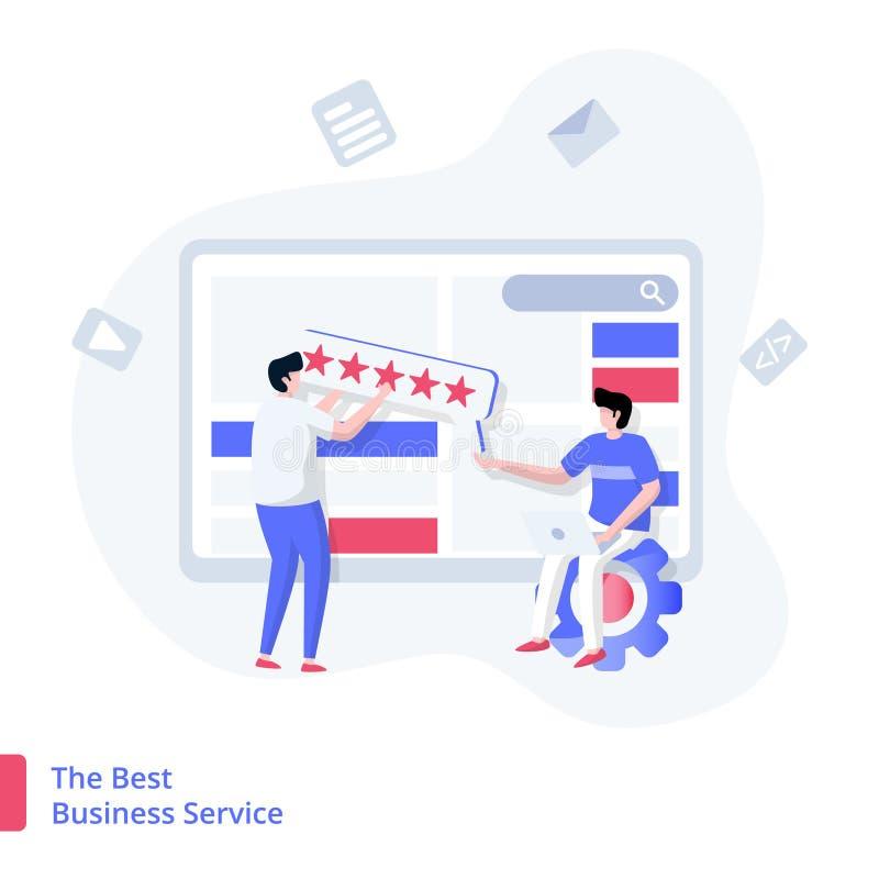Illustrazione il migliore servizio commerciale royalty illustrazione gratis