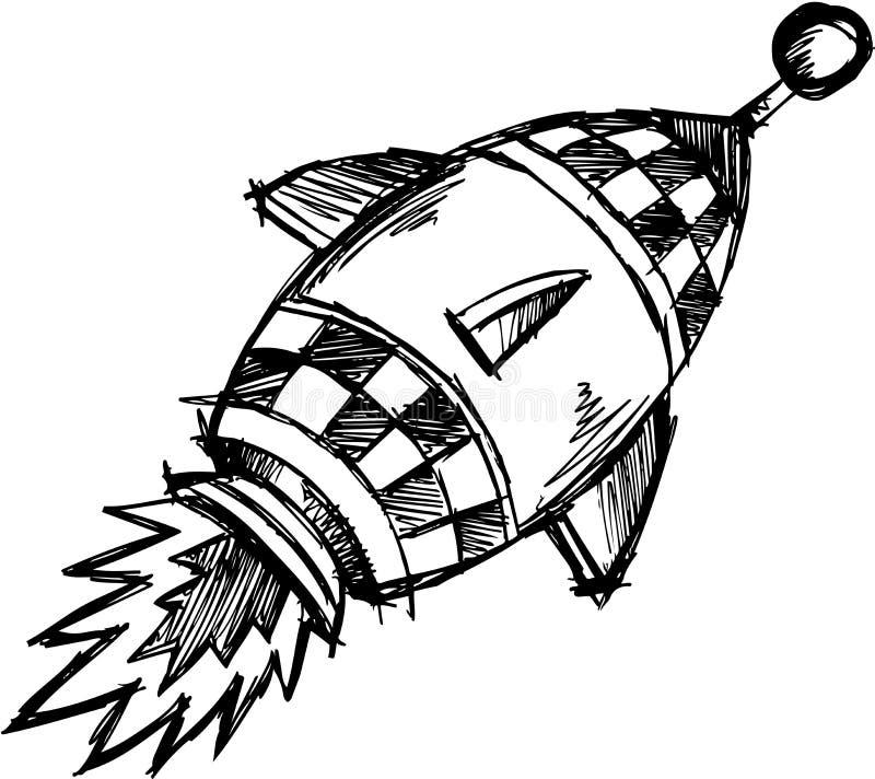 Illustrazione imprecisa di vettore del Rocket royalty illustrazione gratis