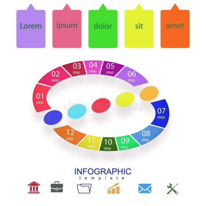 Illustrazione infographic geometrica astratta di vettore di presentazione royalty illustrazione gratis