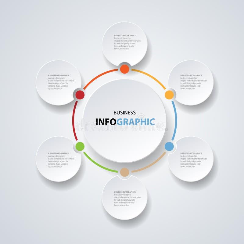 Illustrazione Infographic per la disposizione, diagramma, rapporto annuale, web design illustrazione di stock