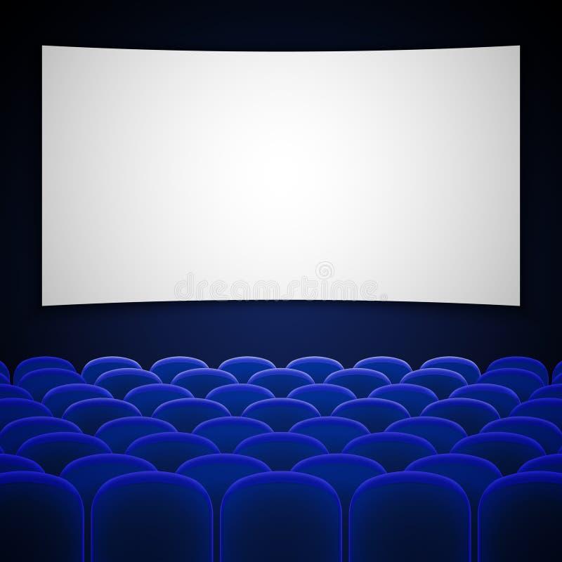 Illustrazione interna di vettore del cinema del cinema royalty illustrazione gratis