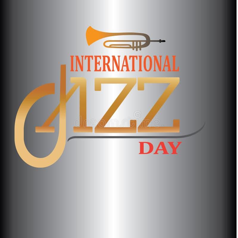 Illustrazione internazionale di vettore di Jazz Day - L'archivio di vettore illustrazione vettoriale