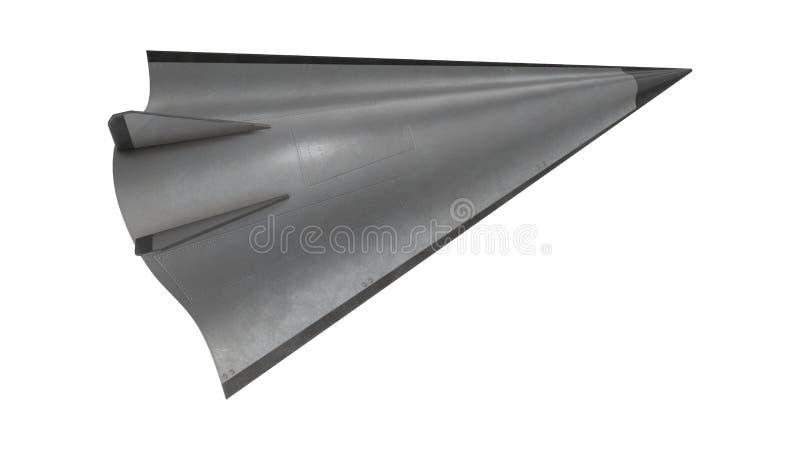 Illustrazione ipersonica del veicolo 3D della scivolata di Avangard illustrazione di stock