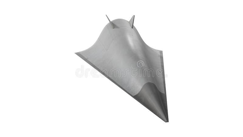 Illustrazione ipersonica del veicolo 3D della scivolata di Avangard royalty illustrazione gratis
