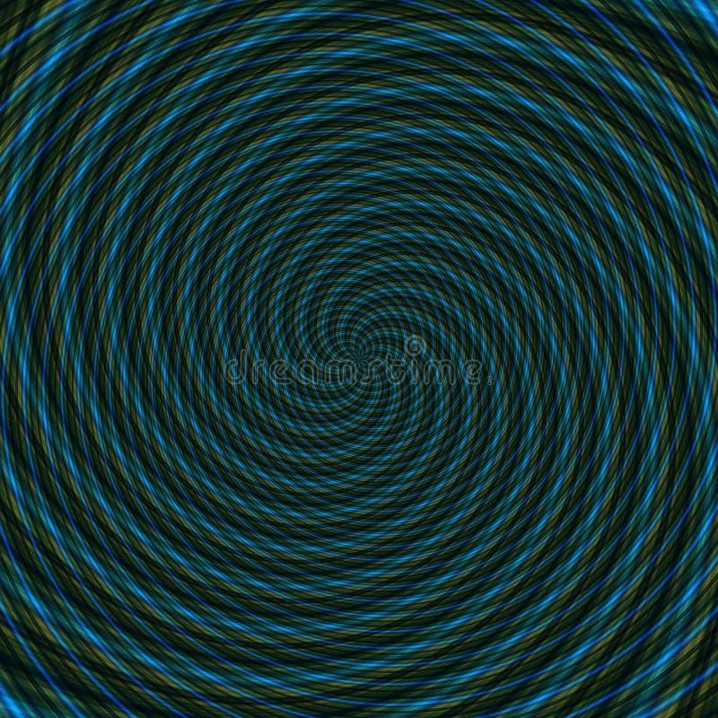 Illustrazione ipnotica di illusione astratta del fondo, attraente ingannevole illustrazione di stock
