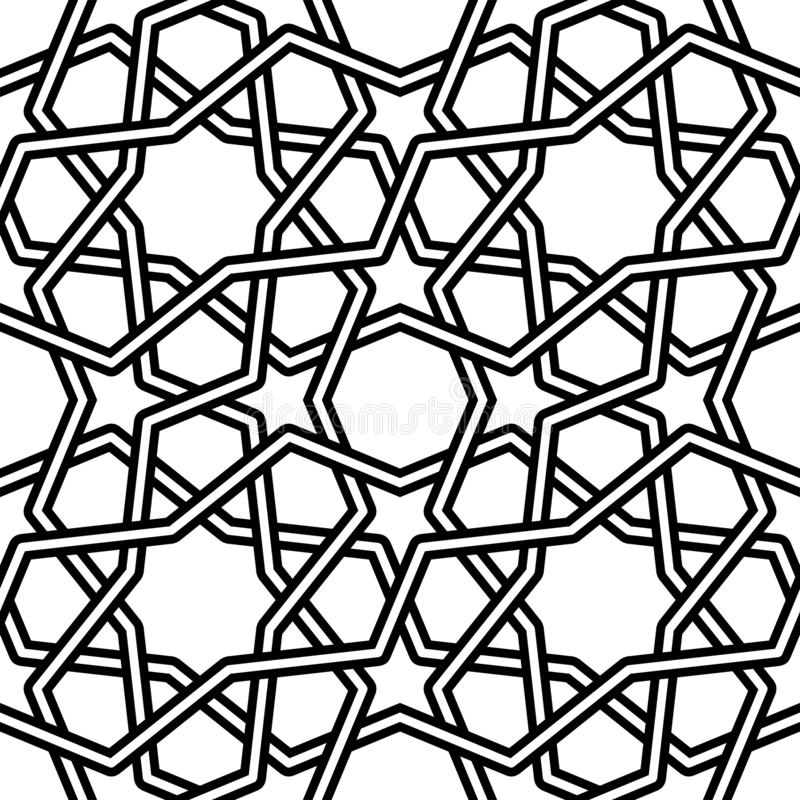 Illustrazione islamica di vettore del modello su fondo bianco royalty illustrazione gratis