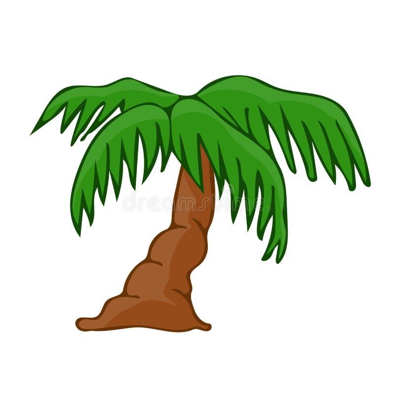 Illustrazione isolata albero del cocco royalty illustrazione gratis