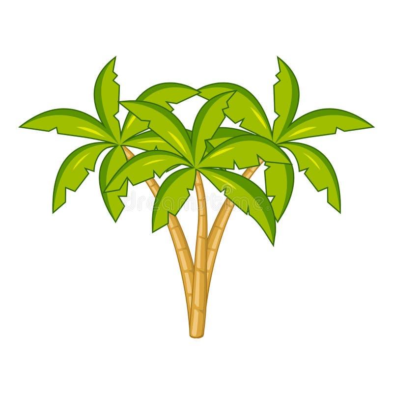 Illustrazione isolata albero del cocco illustrazione di stock