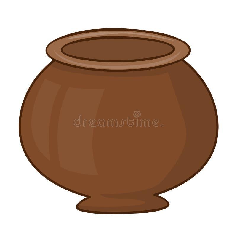 Illustrazione isolata del vaso di argilla royalty illustrazione gratis