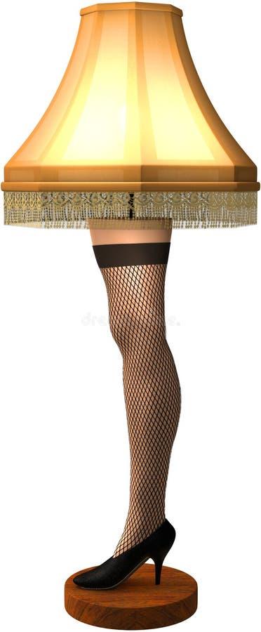 Illustrazione isolata lampada divertente della gamba di Natale royalty illustrazione gratis