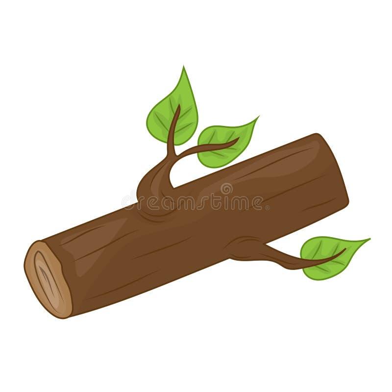 Illustrazione isolata legname illustrazione vettoriale