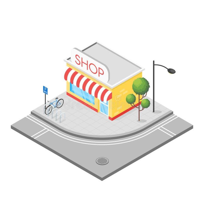 Illustrazione isometrica 3d del negozio royalty illustrazione gratis