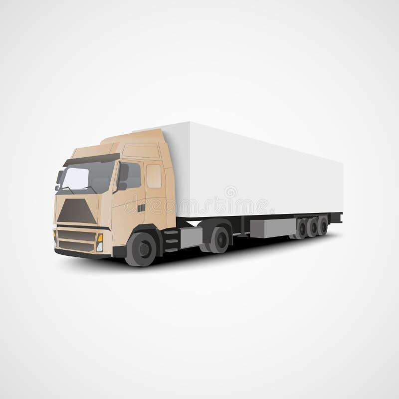 Illustrazione isometrica di euro vettore del camion illustrazione vettoriale