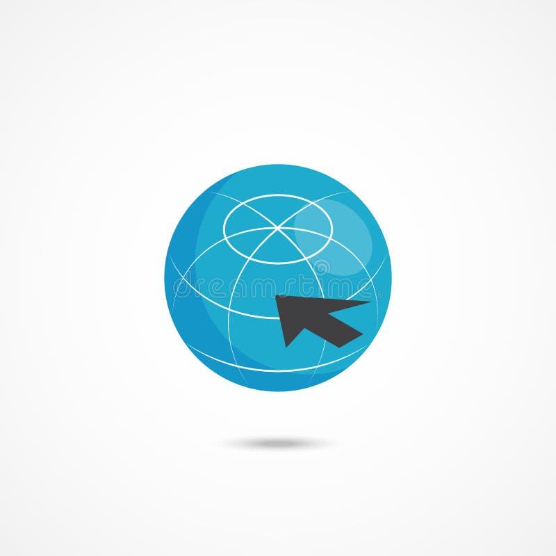Illustrazione isometrica di vettore dell'icona 3d di Internet illustrazione di stock