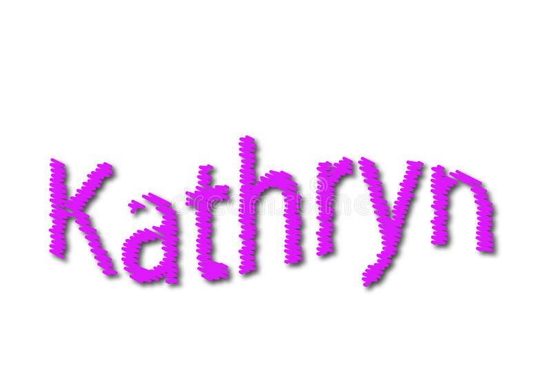 Illustrazione, kathryn di nome isolato in un fondo bianco immagini stock libere da diritti