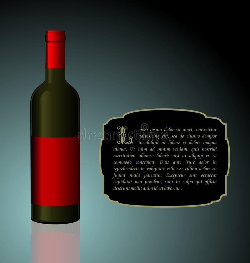 Illustrazione la bottiglia di vino dell'elite illustrazione vettoriale