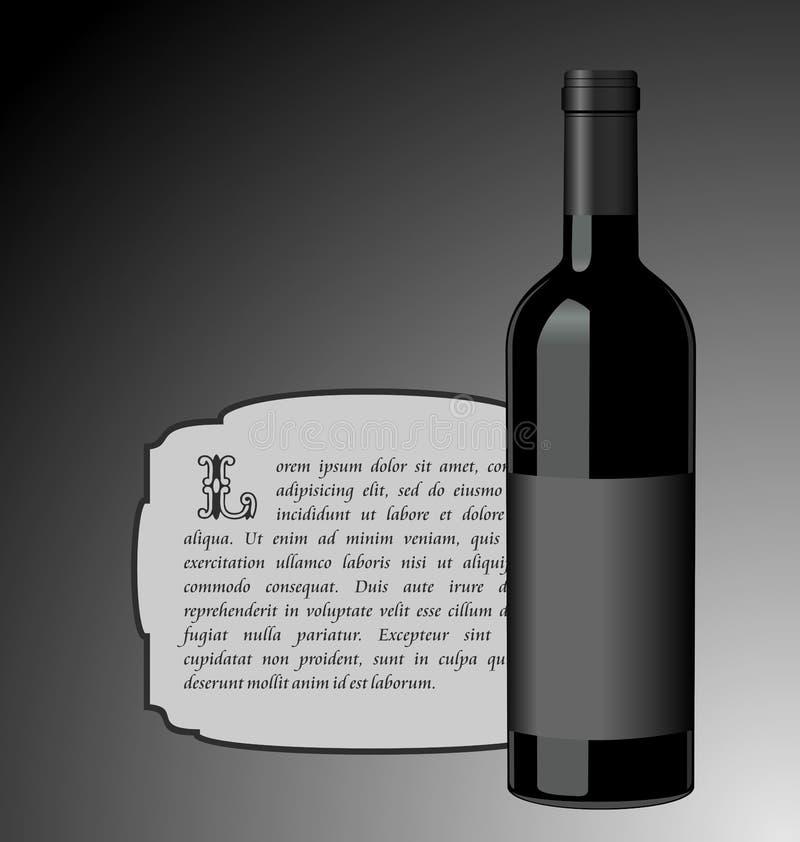 Illustrazione la bottiglia di vino dell'elite royalty illustrazione gratis