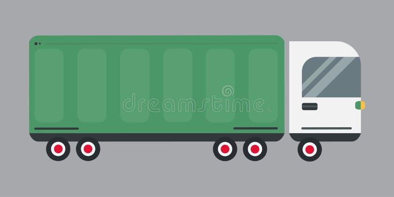 Illustrazione logistica di vettore del camion del carico di trasporto di consegna illustrazione di stock