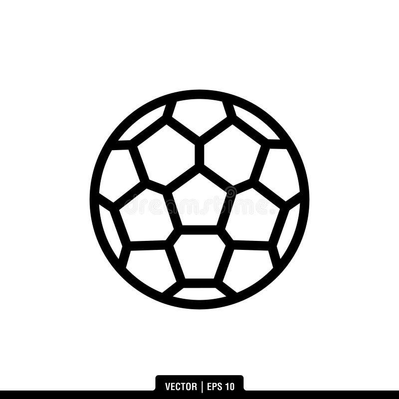 Illustrazione Logo Template di vettore dell'icona del pallone da calcio illustrazione vettoriale