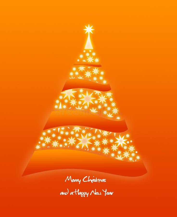 Illustrazione lucida dell'albero di Natale illustrazione di stock