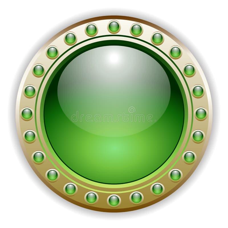 Illustrazione lucida verde del tasto di vettore illustrazione vettoriale