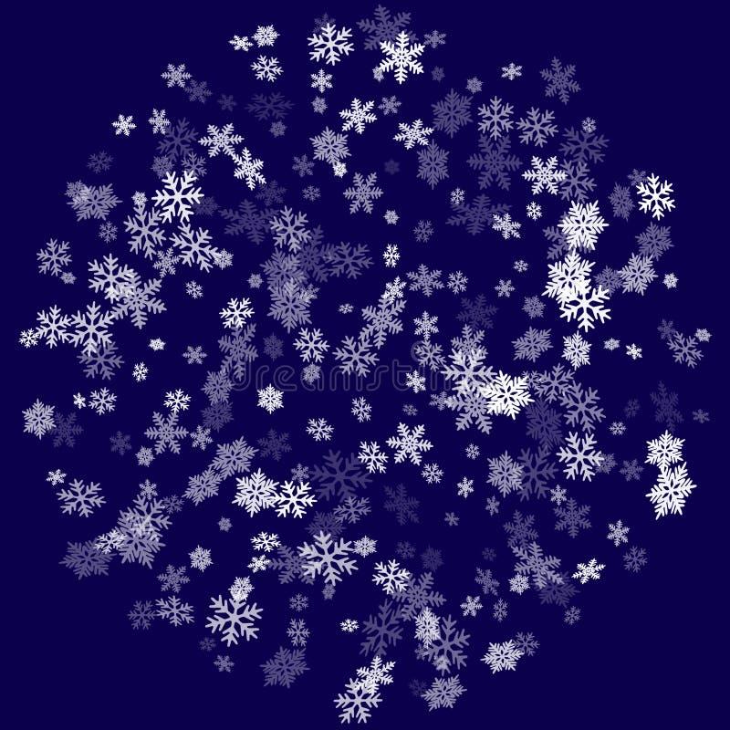 Illustrazione macro di caduta di vettore dei fiocchi della neve royalty illustrazione gratis