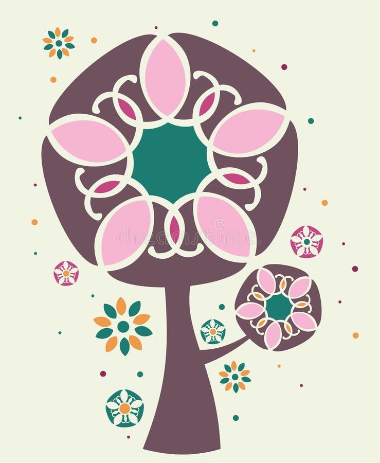 Illustrazione magica dell'albero royalty illustrazione gratis