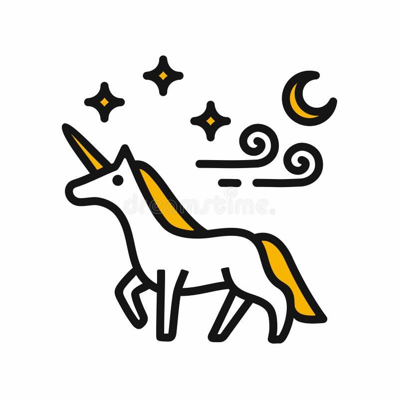 Illustrazione magica di vettore dell'unicorno royalty illustrazione gratis