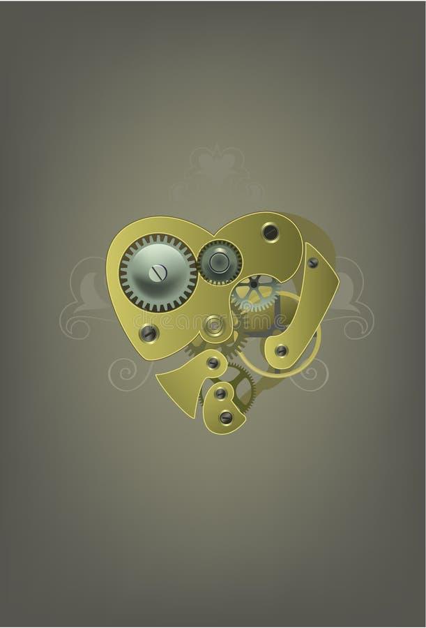 Illustrazione meccanica del cuore illustrazione vettoriale