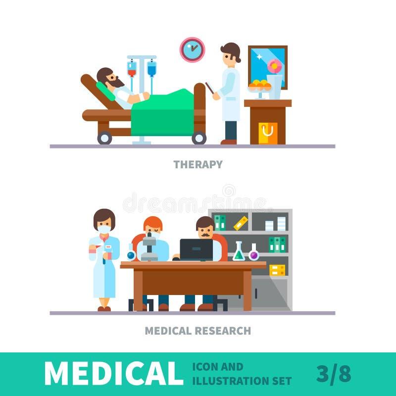 Illustrazione medica del recupero dopo il reparto di ortopedia royalty illustrazione gratis