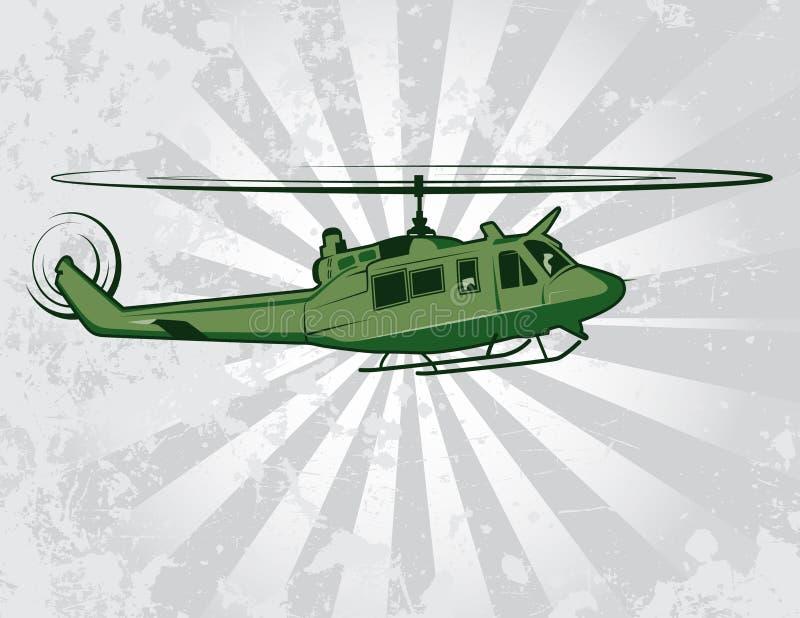 Illustrazione militare pratica di vettore dell'elicottero illustrazione vettoriale