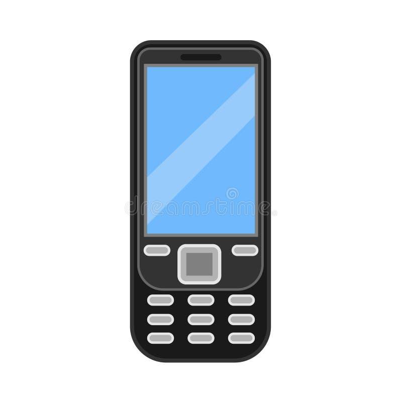 Illustrazione mobile dello schermo dell'icona di vettore dello Smart Phone Dispositivo isolato cellulare Modello piano del modell illustrazione vettoriale
