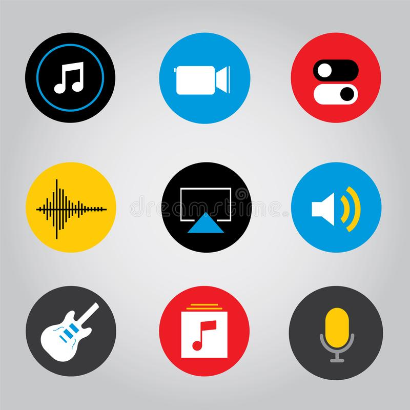 Illustrazione mobile di vettore dell'icona del bottone di applicazione dello Smart Phone dello schermo attivabile al tatto immagine stock