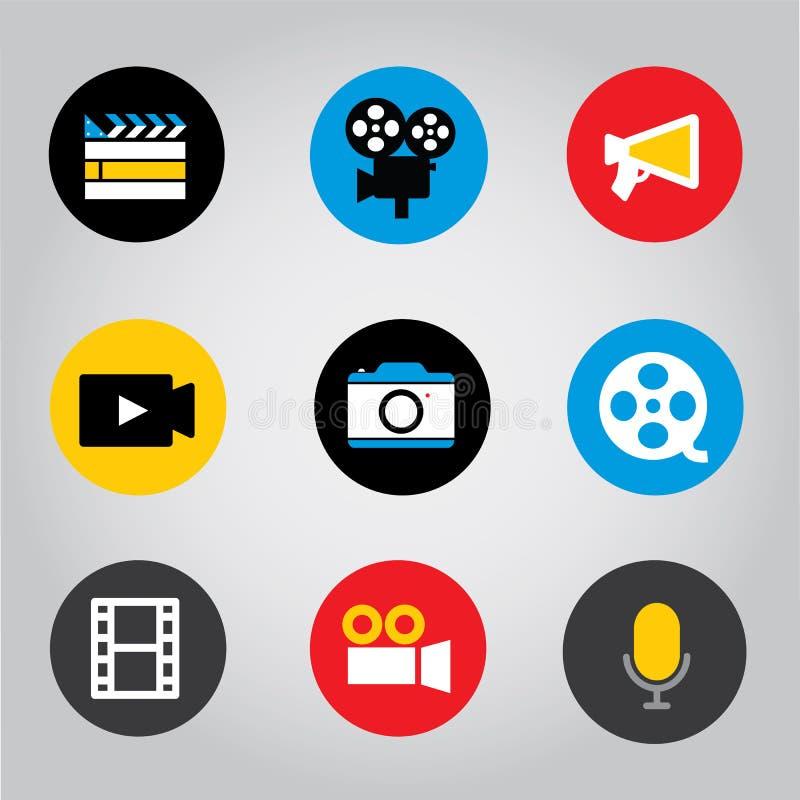 Illustrazione mobile di vettore dell'icona del bottone di applicazione dello Smart Phone dello schermo attivabile al tatto fotografia stock