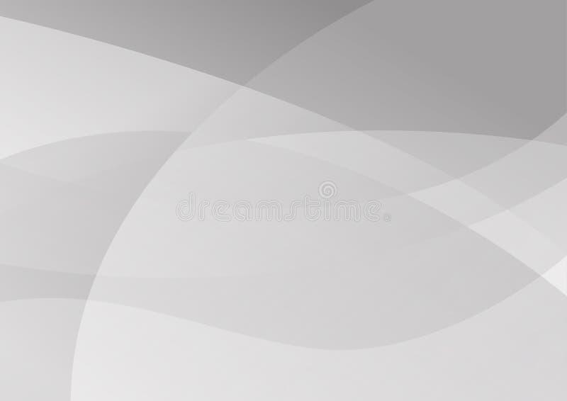 Illustrazione moderna astratta di vettore di progettazione del fondo di tecnologia bianca e grigia di colore illustrazione vettoriale