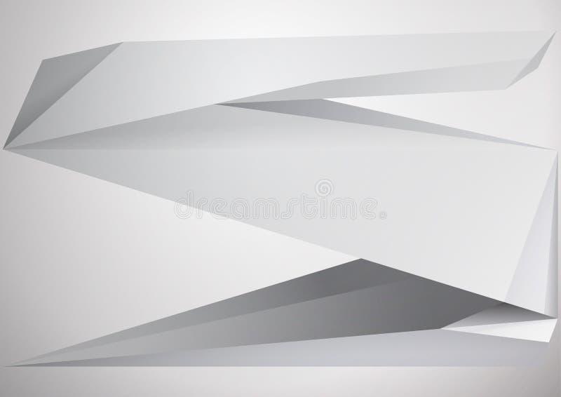 Illustrazione moderna astratta di vettore di progettazione del fondo di tecnologia bianca e grigia di colore illustrazione di stock