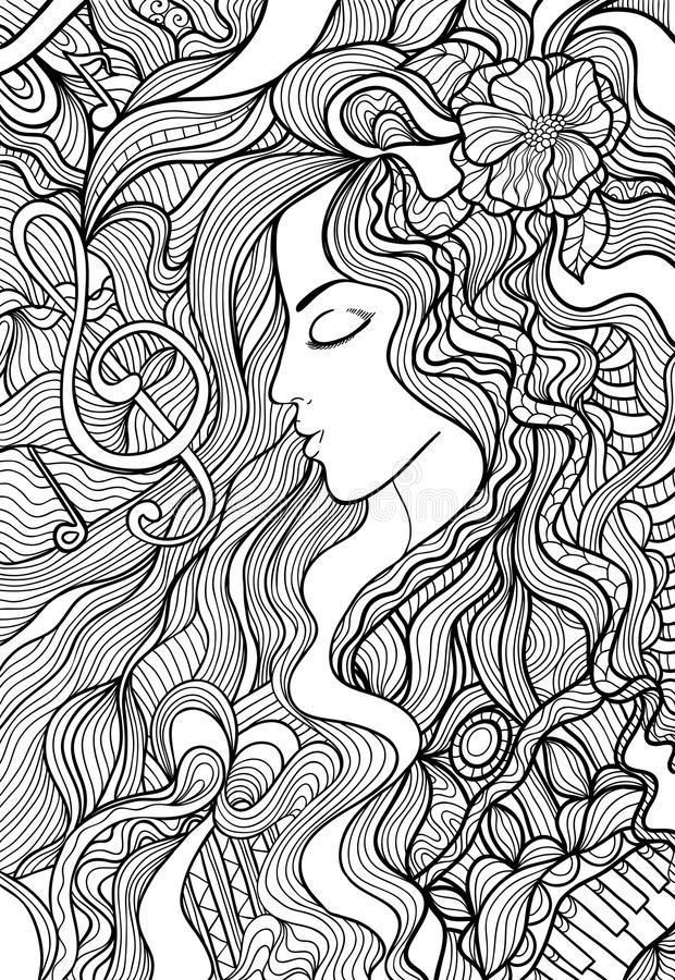 Illustrazione musicale illustrazione di stock