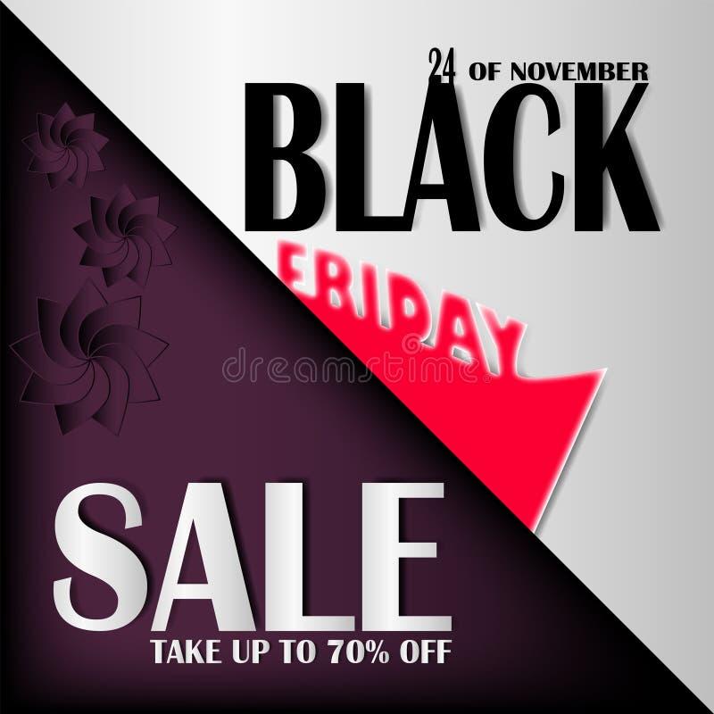 Illustrazione nera eps10 di vettore di venerdì di vendita illustrazione di stock