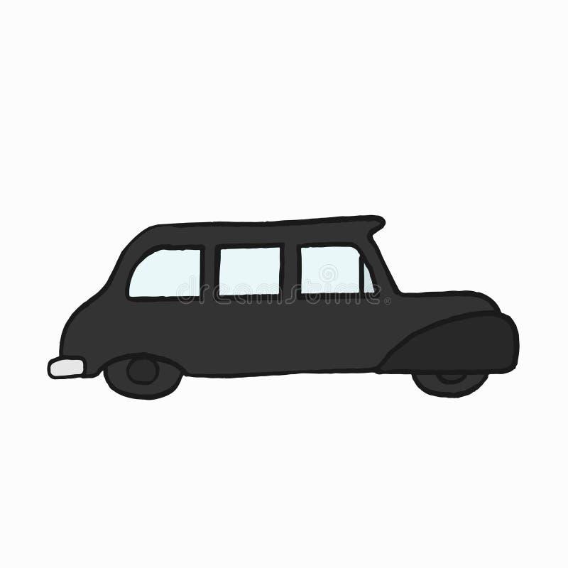 Illustrazione nera tradizionale della carrozza del ` s di Londra illustrazione vettoriale