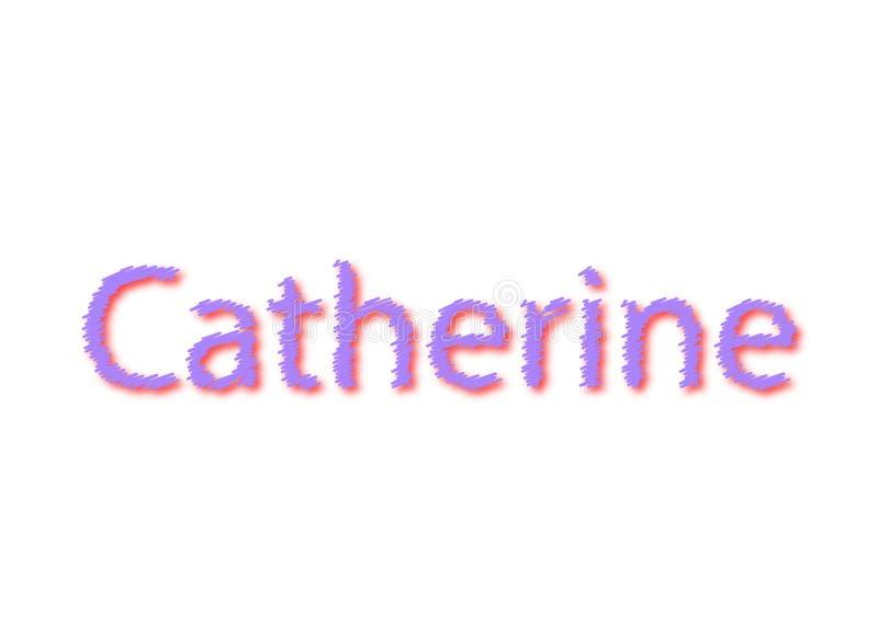 Illustrazione, nome catherine isolata in un fondo bianco royalty illustrazione gratis