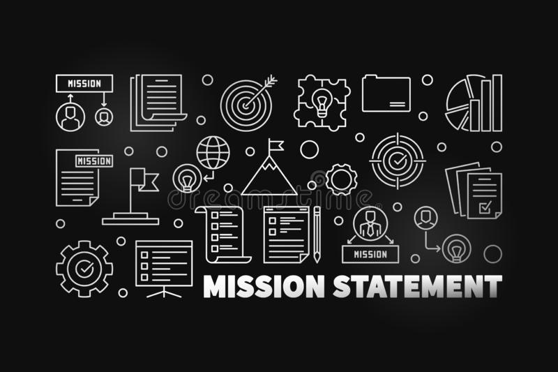 Illustrazione o insegna moderna del profilo di dichiarazione di missione di vettore royalty illustrazione gratis