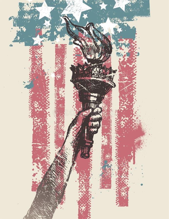 Illustrazione patriottica degli S.U.A. royalty illustrazione gratis