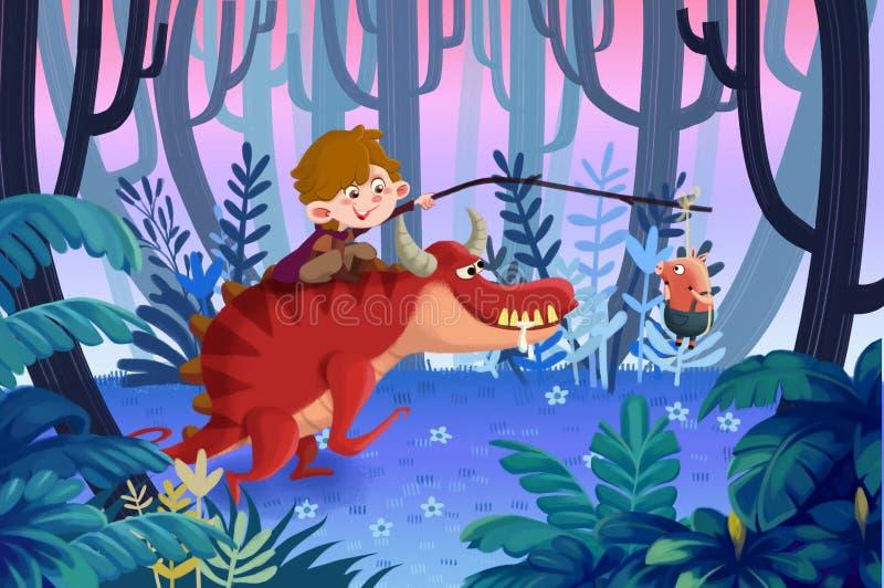 Illustrazione per i bambini: Il piccolo porcellino spiacente, appende prego un poco su più momenti, noi è quasi là presto royalty illustrazione gratis