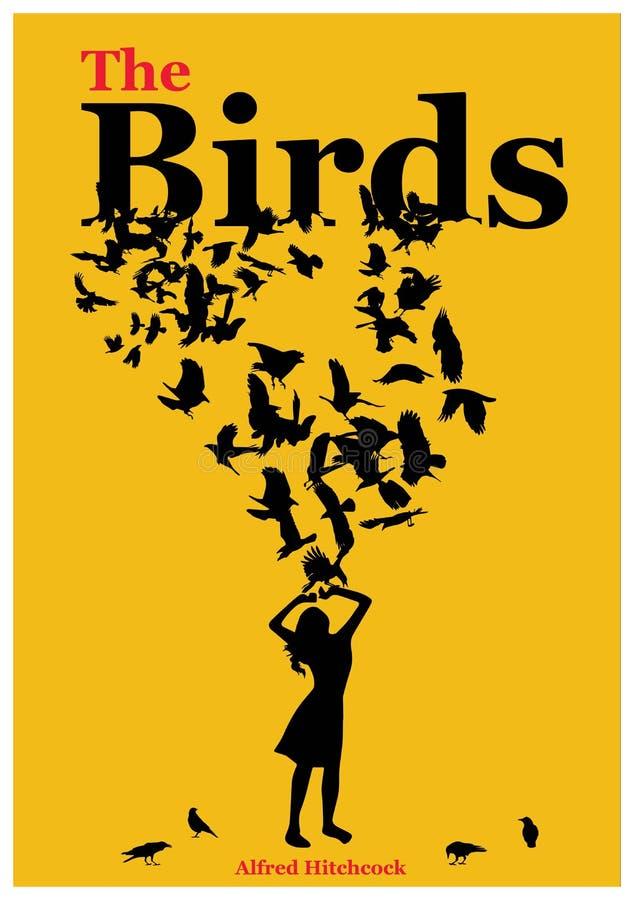 Illustrazione per il manifesto gli uccelli fotografia stock libera da diritti