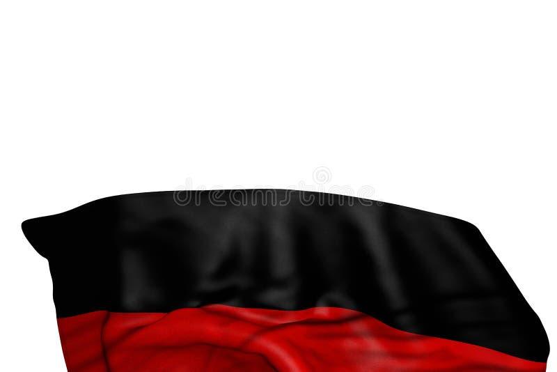 Illustrazione piacevole della bandiera 3d di festività - la bandiera della Germania con i grandi popolare risiede nel fondo isola royalty illustrazione gratis