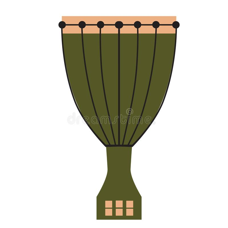 Illustrazione piana del tamburo royalty illustrazione gratis