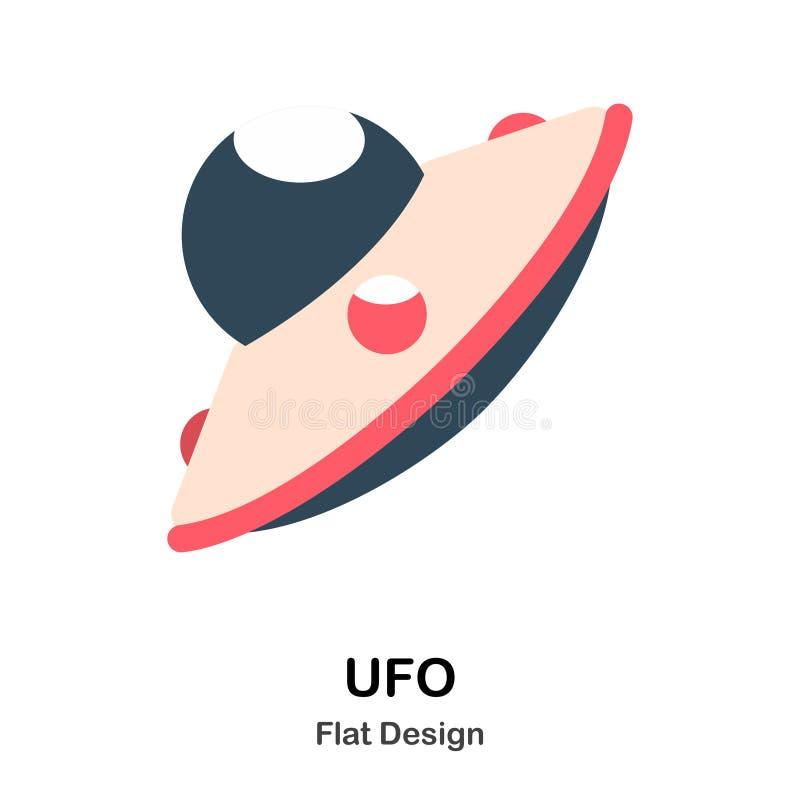 Illustrazione piana del UFO illustrazione di stock